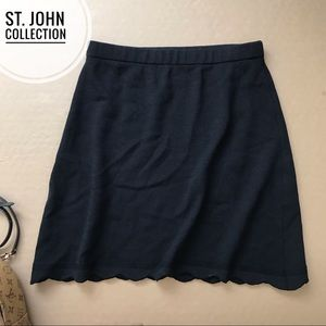 ST. JOHN Collection Knit Skirt Scalloped A-line